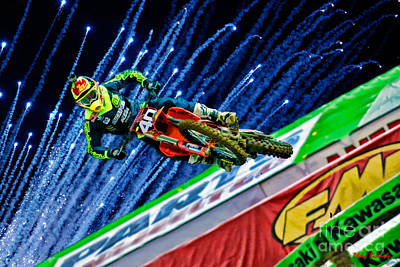 Photograph - Ama Supercross 250sx Shane Mcelrath by Blake Richards