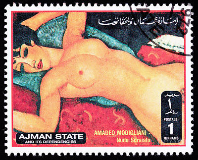 Amadeo Modigliani Photograph - Amadeo Modigliani Nude Sdraiato Reclining Nude by Jim Pruitt