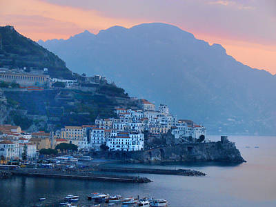 By The Sea Digital Art - Amalfi By The Sea by Bill Cannon