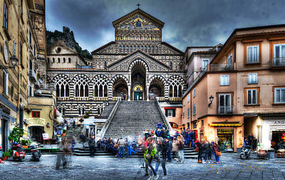 Digital Art - Amalfi Cathedral by Enrico Pelos