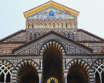Amalfi Cathedral Italy  Art Print
