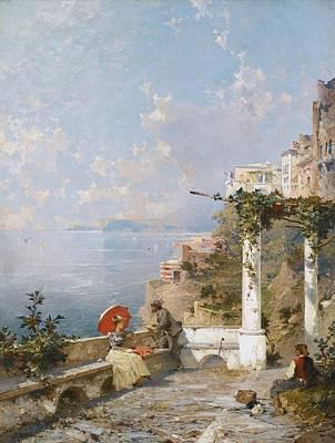 Amalfi Coast Painting - Amalfi Coast by Celestial Images