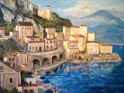 Amalfi Coast Highway Art Print