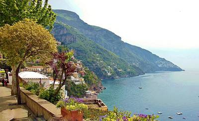 Amalfi Coast In Bloom Original by Marilyn Dunlap