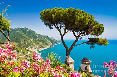 Town Photograph - Amalfi Coast by JR Photography