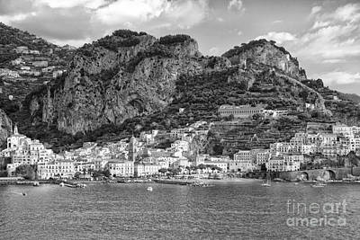 Photograph - Amalfi Coast Monochrome by Kate McKenna