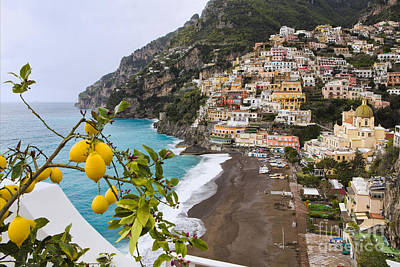 Amalfi Coast Town Print by George Oze
