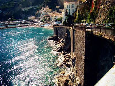 Amalfi Photograph - Amalfi Coast by Zinvolle Art