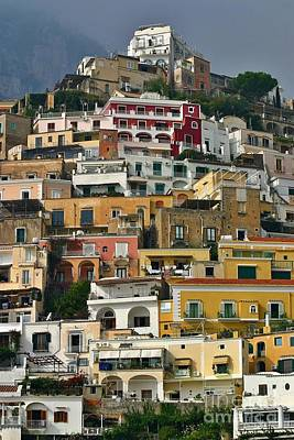 Art Print featuring the photograph Amalfi Houses by Henry Kowalski