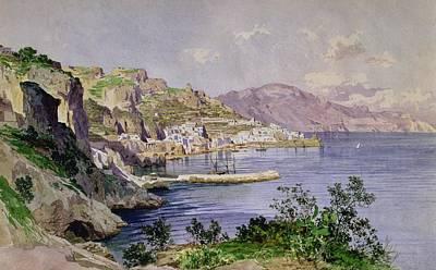 Mediterranean Village Painting - Amalfi by Ludwig Hans Fischer