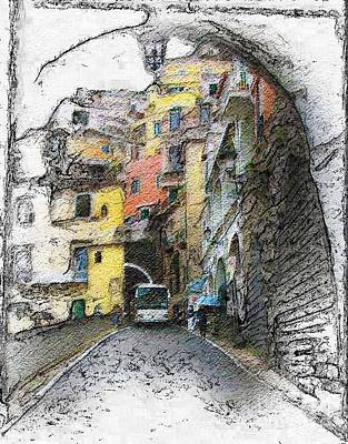 Photograph - Amalfi Tunnels by Tom Griffithe