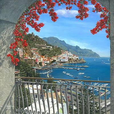 Amalfi Vista Art Print by Richard Harpum