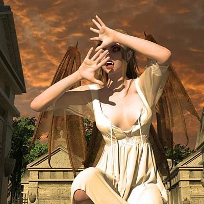 Nosferatu Digital Art - Amalia by Nelson Nieves