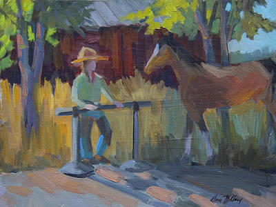 Painting - Amanda At The Hitching Post by Diane McClary