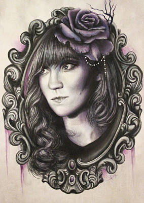 Amanda Denis - Tribute Portrait  Art Print by Sheena Pike