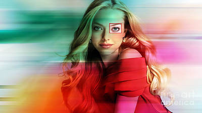 Amanda Seyfried Painting Art Print