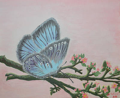 Painting - Amandas Blue Dream by Felicia Tica