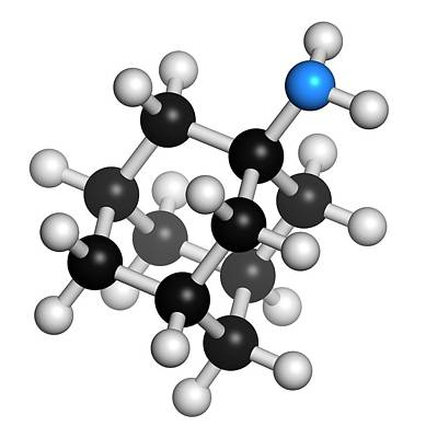 Amantadine Drug Molecule Art Print