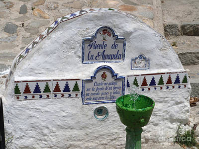 Pop Art Rights Managed Images - Amapola fountain Granada Royalty-Free Image by Phil Banks
