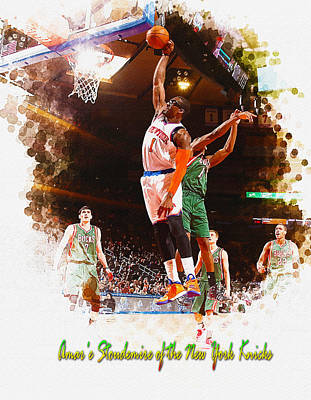 Amar E Stoudemire Of The New York Knicks  Original by Don Kuing