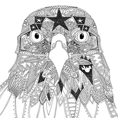 Amarican Eagle Black White Art Print
