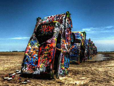 Paint Cans Photograph - Amarillo - Cadillac Ranch 004 by Lance Vaughn