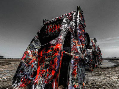 Installation Art Photograph - Amarillo - Cadillac Ranch 005 by Lance Vaughn