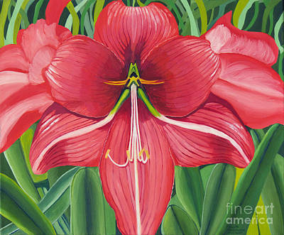 Painting - Amaryllis by Annette M Stevenson
