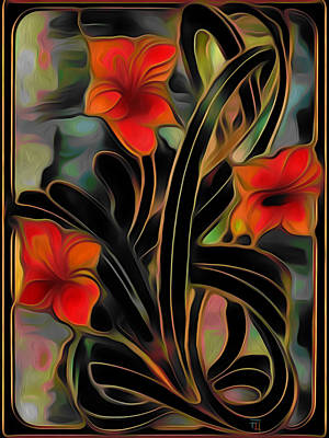 Amaryllis Print by  Fli Art