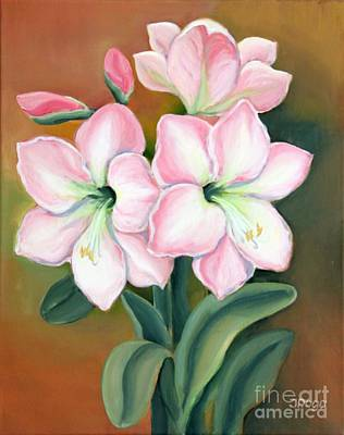 Painting - Amaryllis For Ladies by Inese Poga