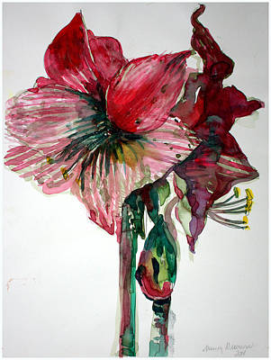 Painting - Amaryllis by Mindy Newman