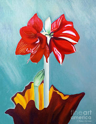 Painting - Amaryllis Oil Painting by Barbara McMahon