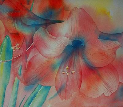 Amaryllis Watercolor Painting - Amaryllis by Thomas Habermann