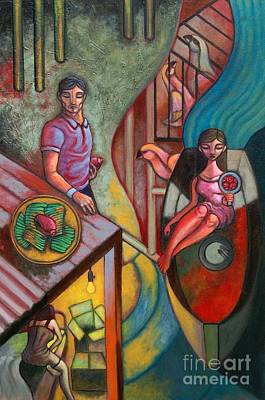 Love Triangle Painting - Amatus Et Amissus by Paul Hilario