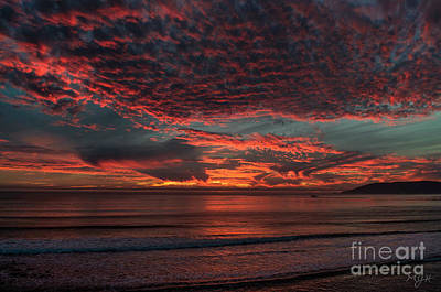 Amazing Blazing Sunset Art Print