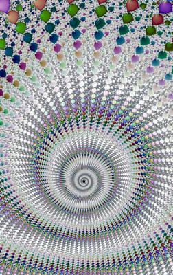 Amazing Fractal Spiral With Great Depth Art Print by Matthias Hauser