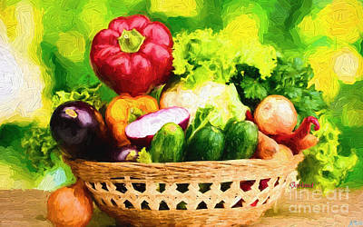 Lettuce Mixed Media - Amazing Gmo. Vegetables by Garland Johnson