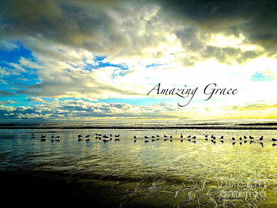 Art Print featuring the photograph Amazing Grace Sunrise 2 by Margie Amberge