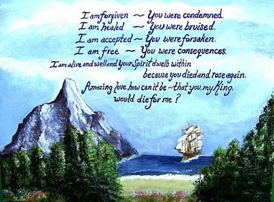 Religious Painting - Amazing Love by Catherine Saldana