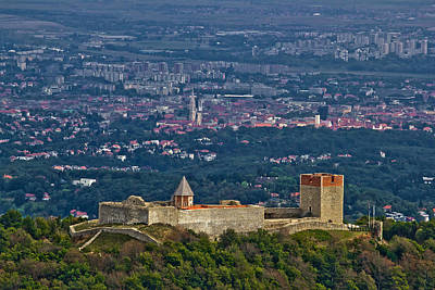 Photograph - Amazing Medvedgrad Castle And Croatian Capital Zagreb by Brch Photography