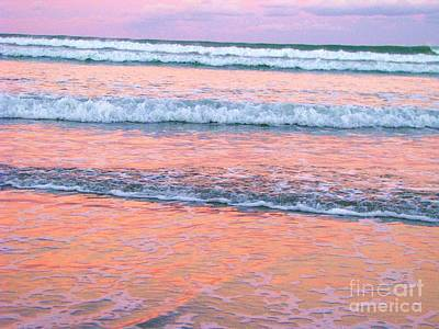 Amazing Pink Sunset Art Print by Michele Penner