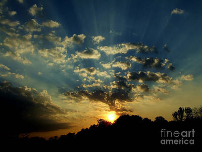 Photograph - Amazing Sunset Rays by Scott B Bennett
