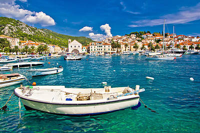 Photograph - Amazing Town Of Hvar Waterfront by Brch Photography