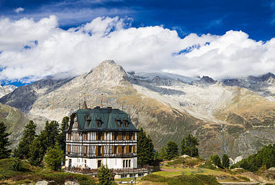 Photograph - Amazing Villa Cassel In The Swiss Alps Switzerland by Matthias Hauser