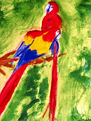 Painting - Amazon Jungle Birds by Stanley Morganstein