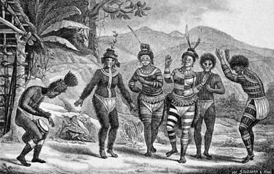Amazon Jungle Painting - Amazon Native Indians, 1816-31 by Granger