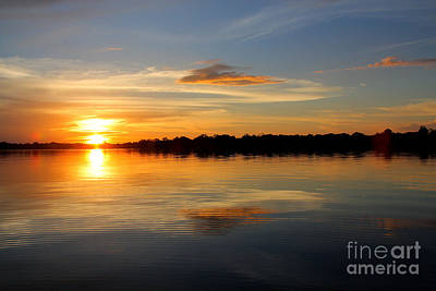 Art Print featuring the photograph Amazon Sunset by Nareeta Martin