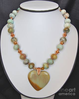 Jewelry - Amazonite Heart Necklace by Megan Cohen
