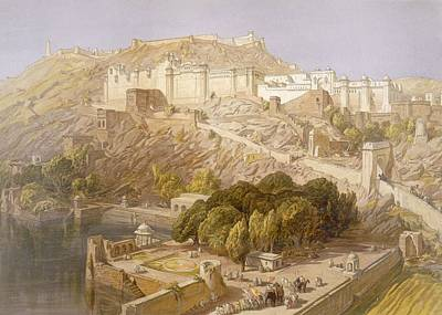 Atmospheric Drawing - Ambair, From India Ancient And Modern by William 'Crimea' Simpson