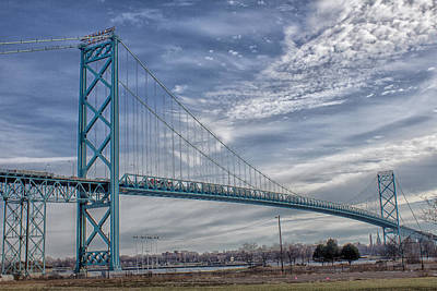 Ambassador Bridge From Detroit Mi To Windsor Canada Art Print